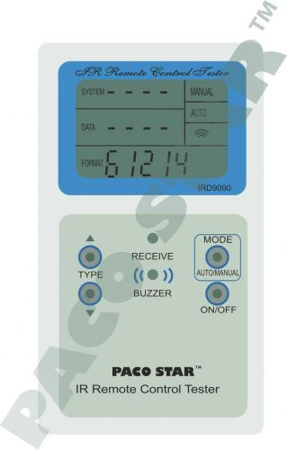 IRD9090 Infrared remote control tester