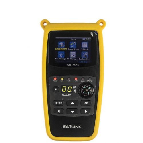 Satlink WS-6933 DVB-S2 FTA C&KU Band Digital Satellite Finder Meter