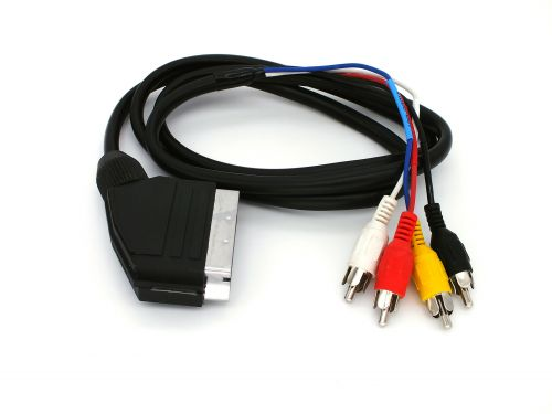 RGB Scart To 3 RCA Audio Video Cable